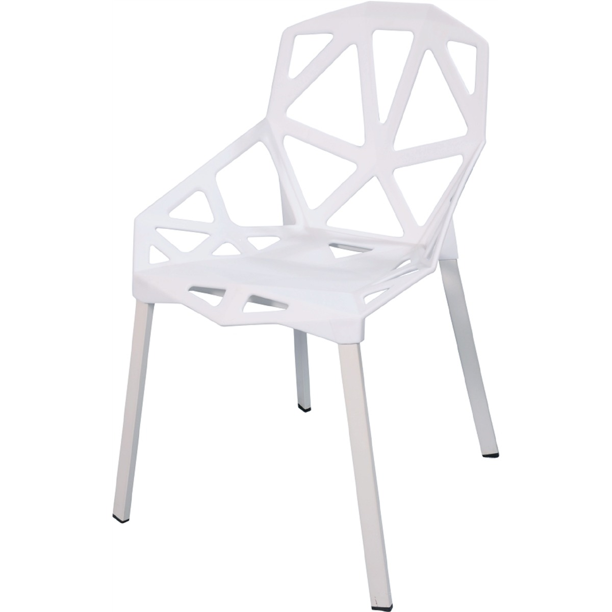 Kit 6 Cadeiras Design Penelope Chair One Pelegrin PEL-1335 Cor Branca