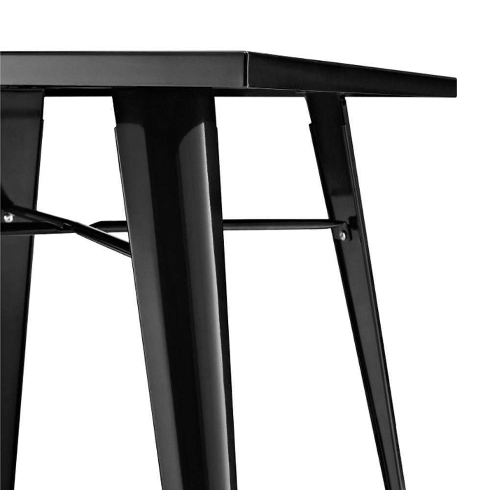 Mesa Design Tolix  Pelegrin PEL 1860 - 80x80 Metal Preta