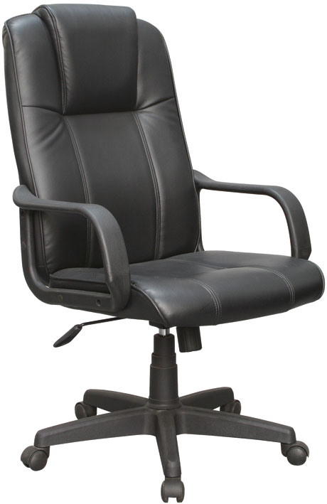 Cadeira Presidente Pelegrin Em Couro Pu Preta PEL-229H