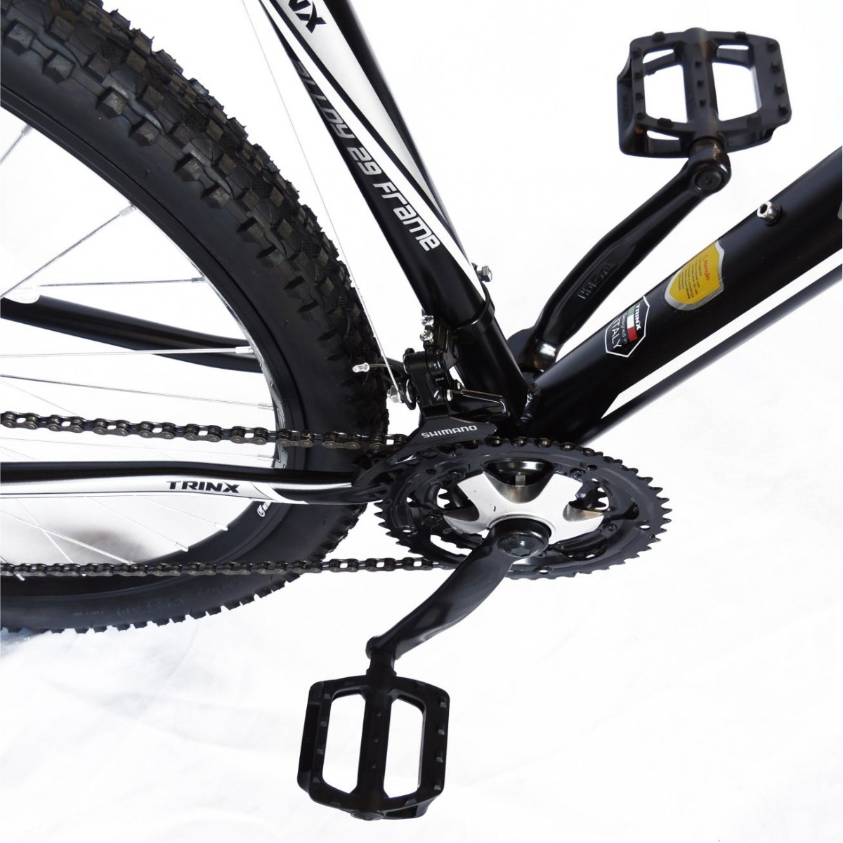 Bicicleta Trinx STI 2.0 Aro 29 Freio/DISC Susp 24V Kit Shimano Preto com Cinza