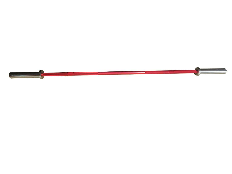 Barra Reta em Aço Maciço para Musculação Pelegrin PEL-182O Olímpica - Vermelha