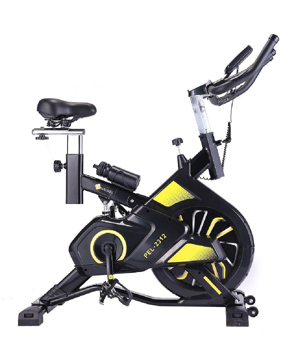Bike Spinning Pelegrin PEL-2312 Preta e Amarela