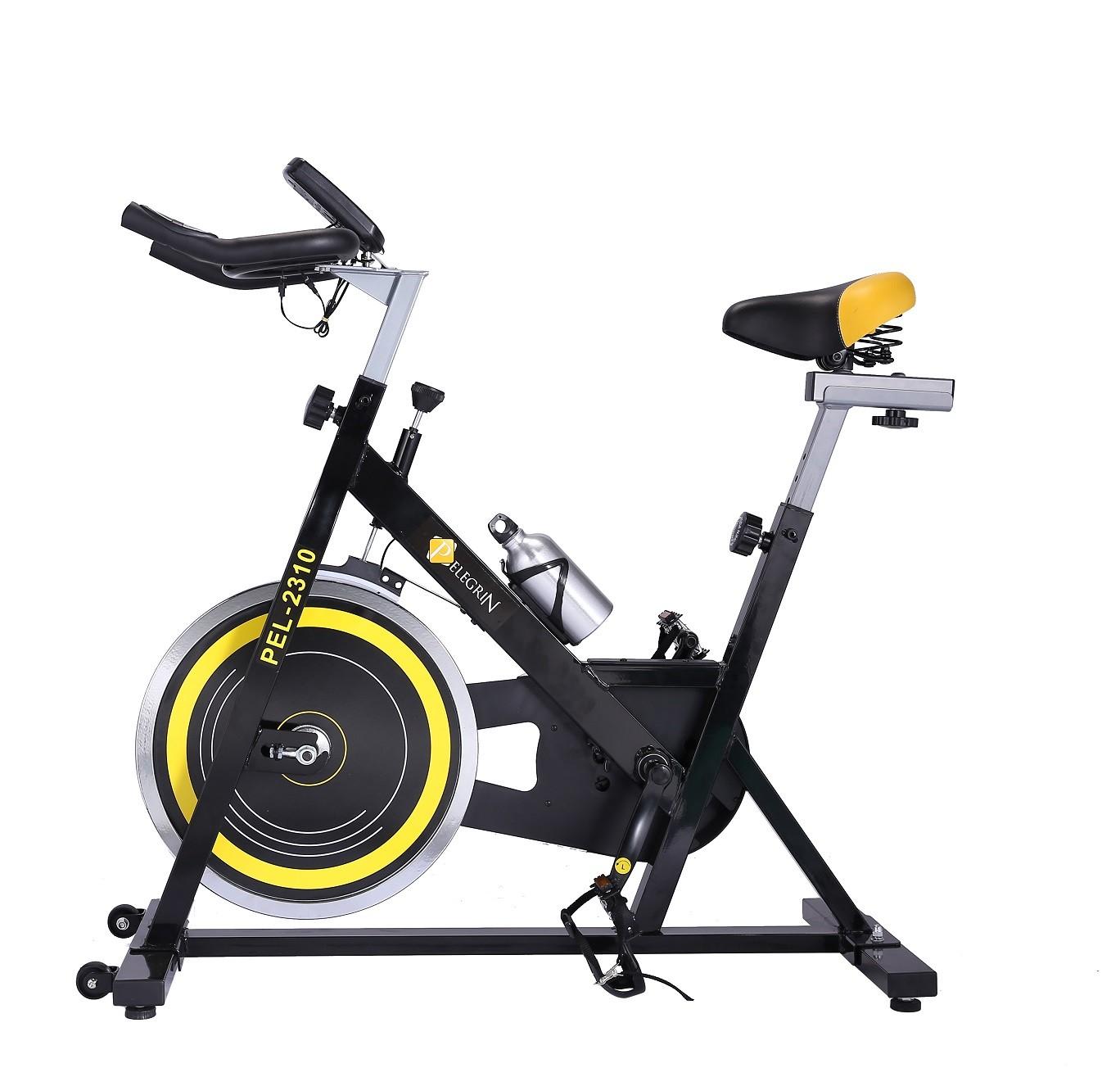 Bike Spinning Racing Profissional Pelegrin PEL-2310 Preta e Amarela
