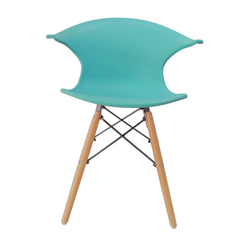 Cadeira Charles Eames New Wood Design Pelegrin PW-079 Azul Celeste