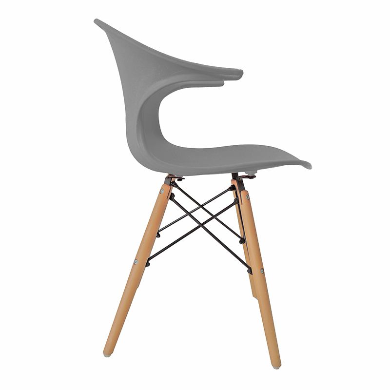 Cadeira Charles Eames New Wood Design Pelegrin PW-079 Cinza