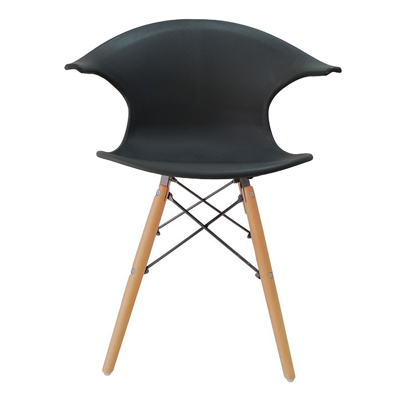 Cadeira Charles Eames New Wood Design Pelegrin PW-079 Cinza Escuro