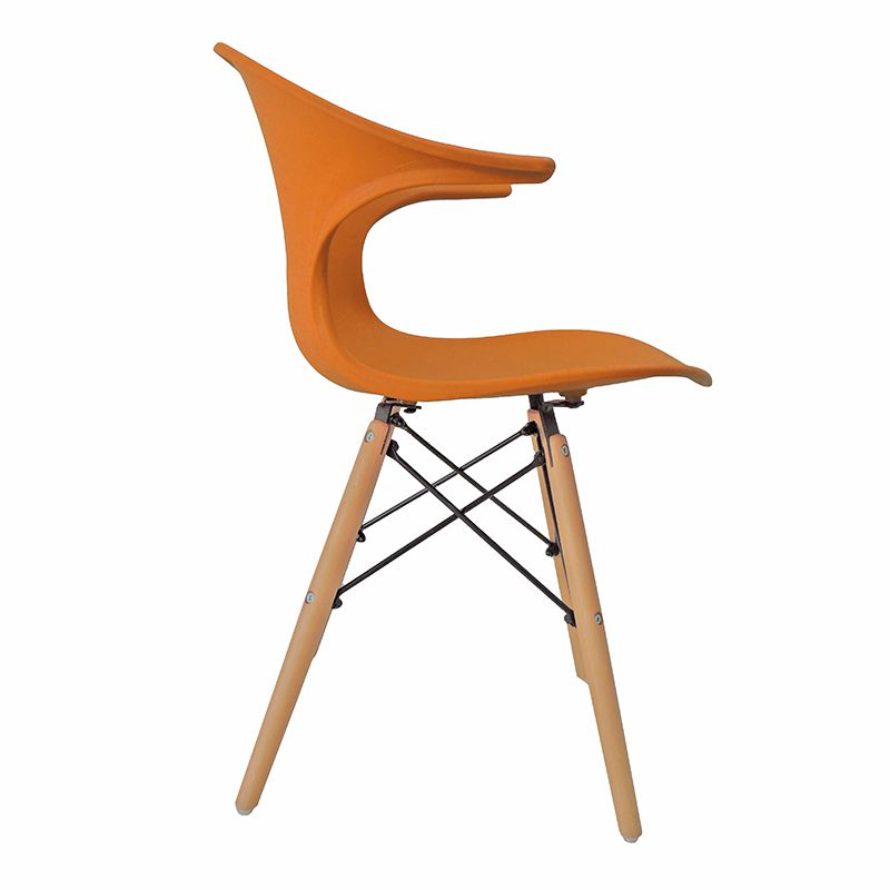 Cadeira Charles Eames New Wood Design Pelegrin PW-079 Laranja