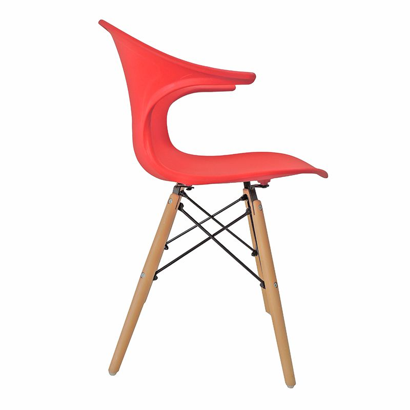 Cadeira Charles Eames New Wood Design Pelegrin PW-079 Vermelha