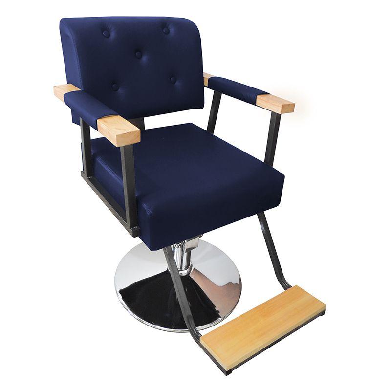 Cadeira de Barbeiro Hidráulica Retro Pelegrin PEL-1040 Azul