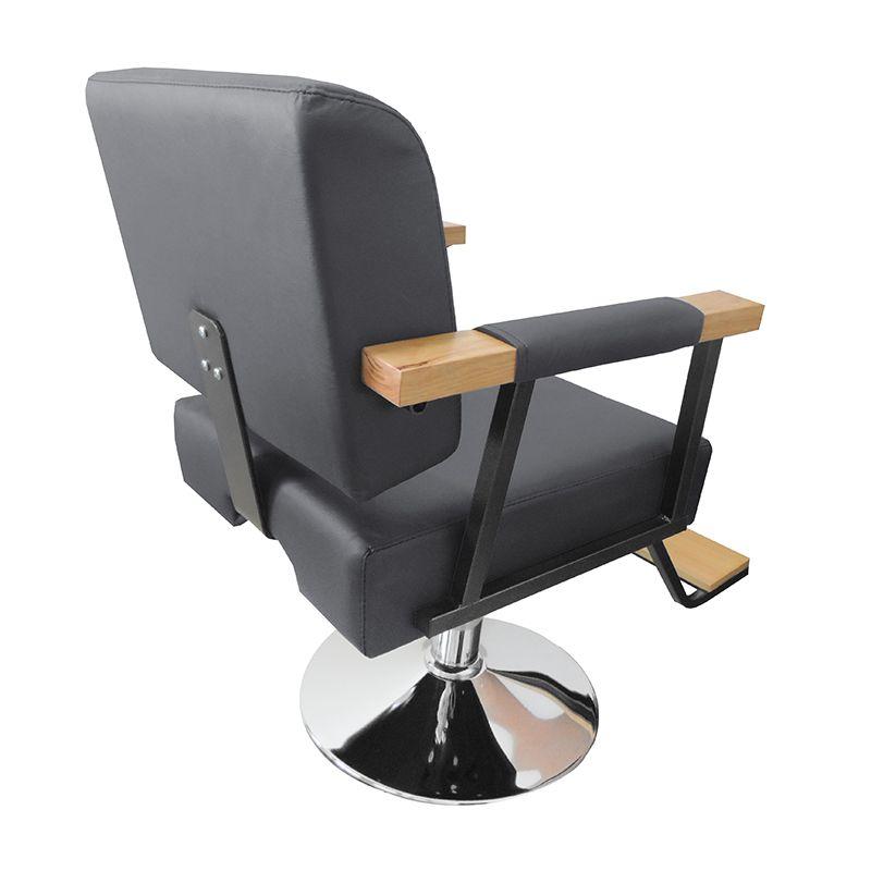 Cadeira de Barbeiro Hidráulica Retro Pelegrin PEL-1040 Preta