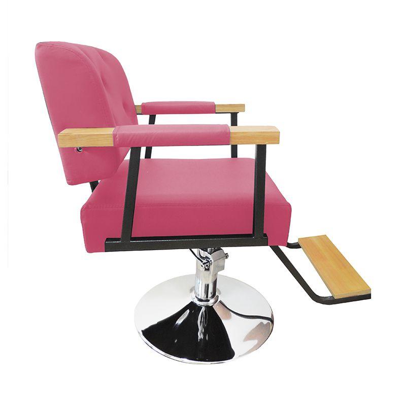 Cadeira de Barbeiro Hidráulica Retro Pelegrin PEL-1040 Rosa
