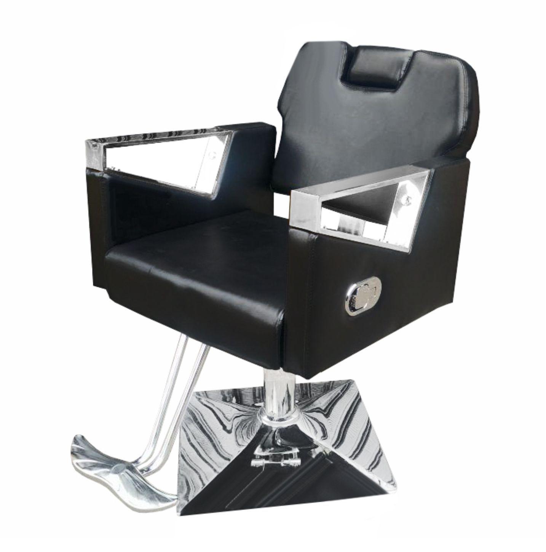 Cadeira de Barbeiro Reclinável Pelegrin Couro PU Preto PEL-S040