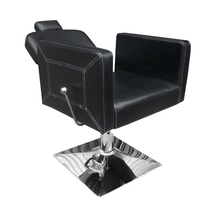 Cadeira de Barbeiro Retro Reclinável Pelegrin Couro PU Preto PEL-S037