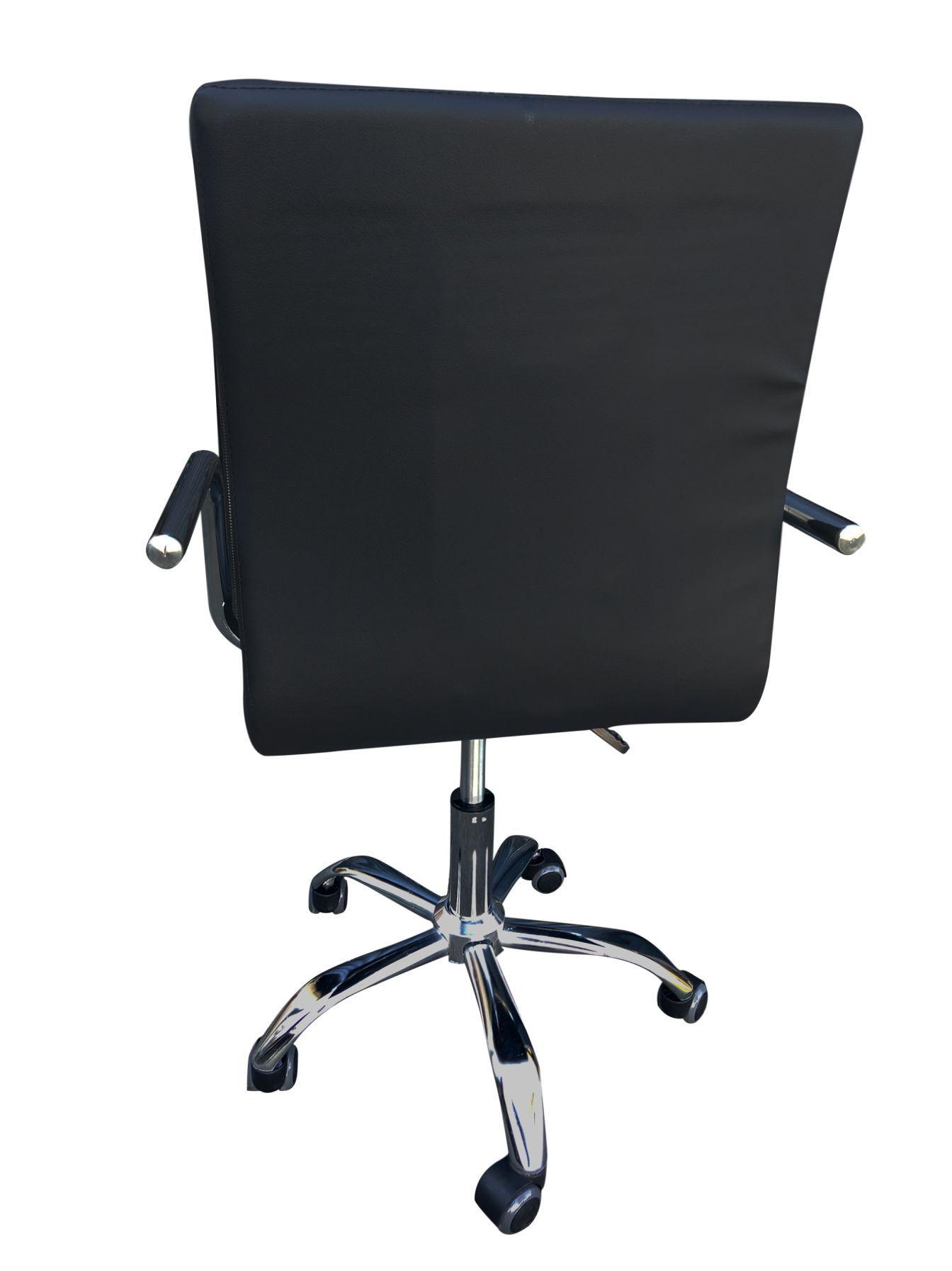Cadeira de Escritório Diretor Couro PU Pelegrin PEL-1102 Preta