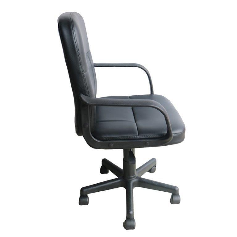 Cadeira de Escritório Diretor Couro PU Pelegrin PEL-1505 Preta
