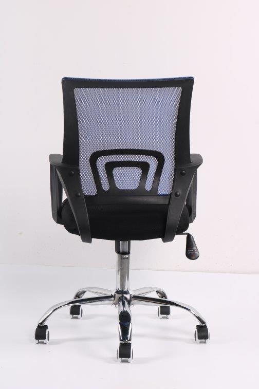 Cadeira de Escritório Diretor PEL-CR11 Preta e Azul