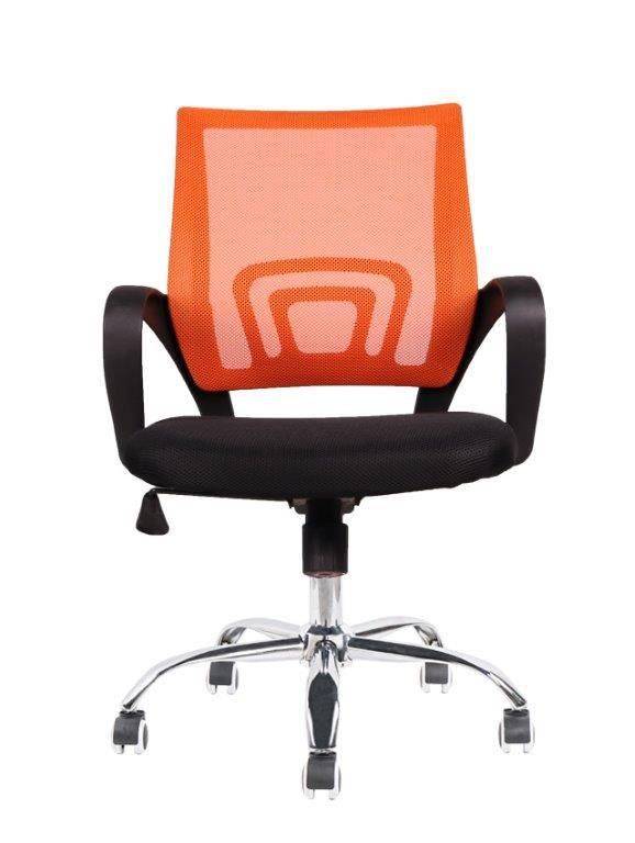 Cadeira de Escritório Diretor Pelegrin PEL-CR11 Preta e Laranja