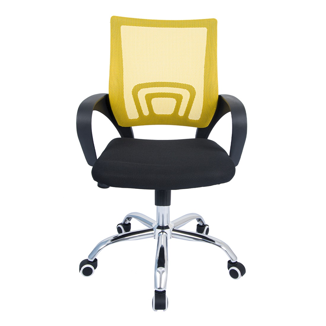 Cadeira de Escritório Diretor Pelegrin PEL-CR11 Preta e Amarela