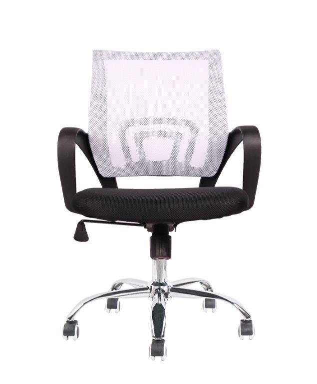 Cadeira de Escritório Diretor Pelegrin PEL-CR11 Preta e Branca