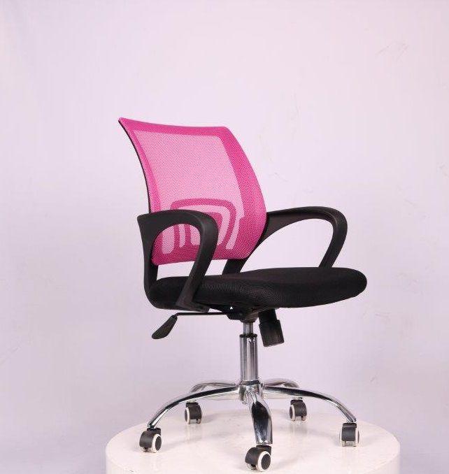 Cadeira de Escritório Diretor Pelegrin PEL-CR11 Preta e Rosa