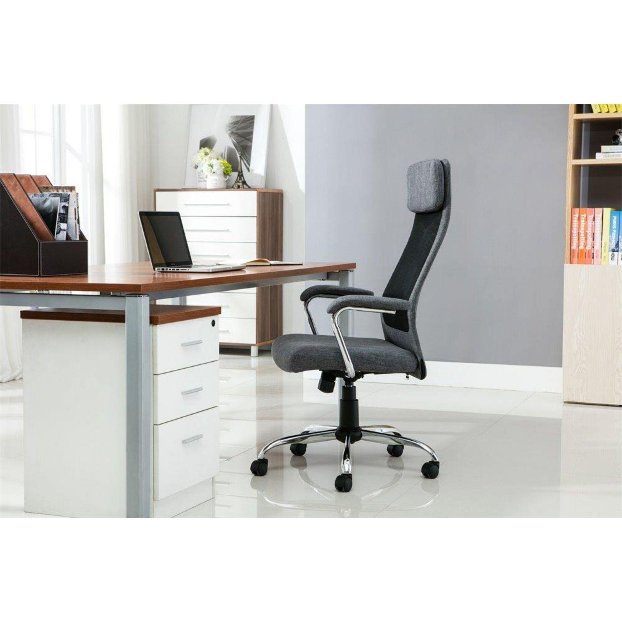 Cadeira de Escritório Presidente Pelegrin Pel-9025 Cinza