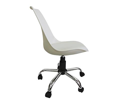 Cadeira de Escritório Secretaria ABS Pelegrin PEL-032A Branca