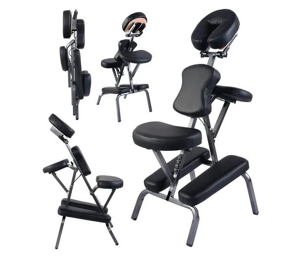 Cadeira de Massagem Shiatsu Dobrável Portátil Pelegrin PEL-2000 Preta