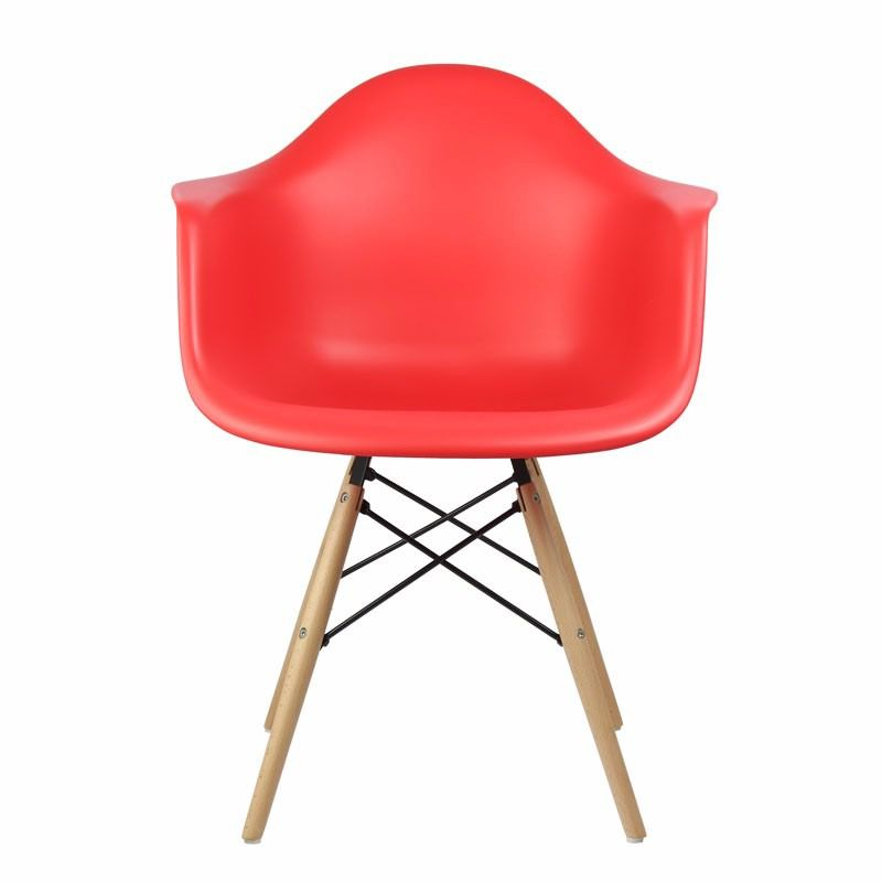 Cadeira Design Eames Wood Vermelha - Orb