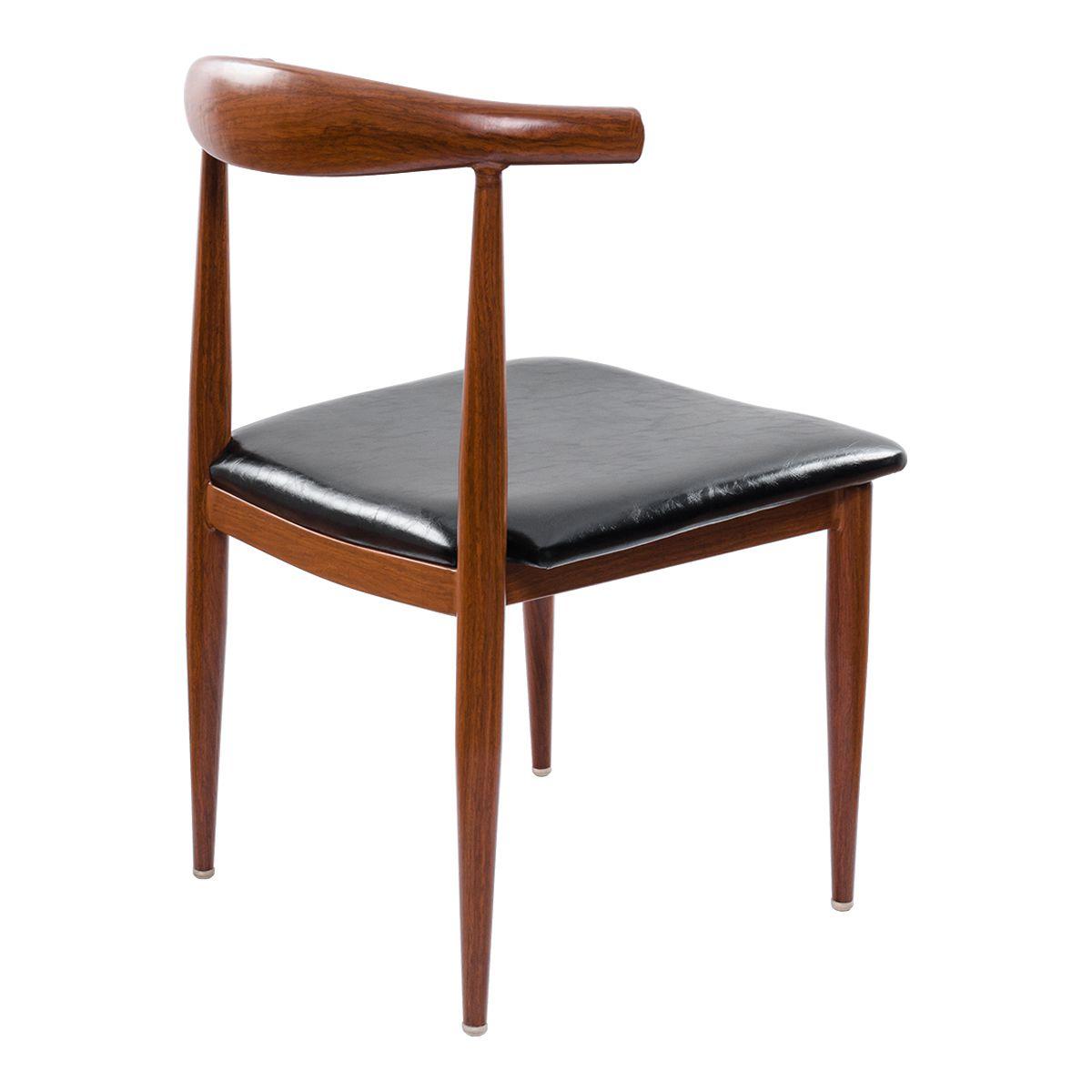 Cadeira Design Pelegrin PEL-1521 Marrom e Preta