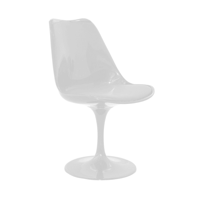 Cadeira Design Saarinen Pelegrin PEL-1855H Giratória Branca em ABS
