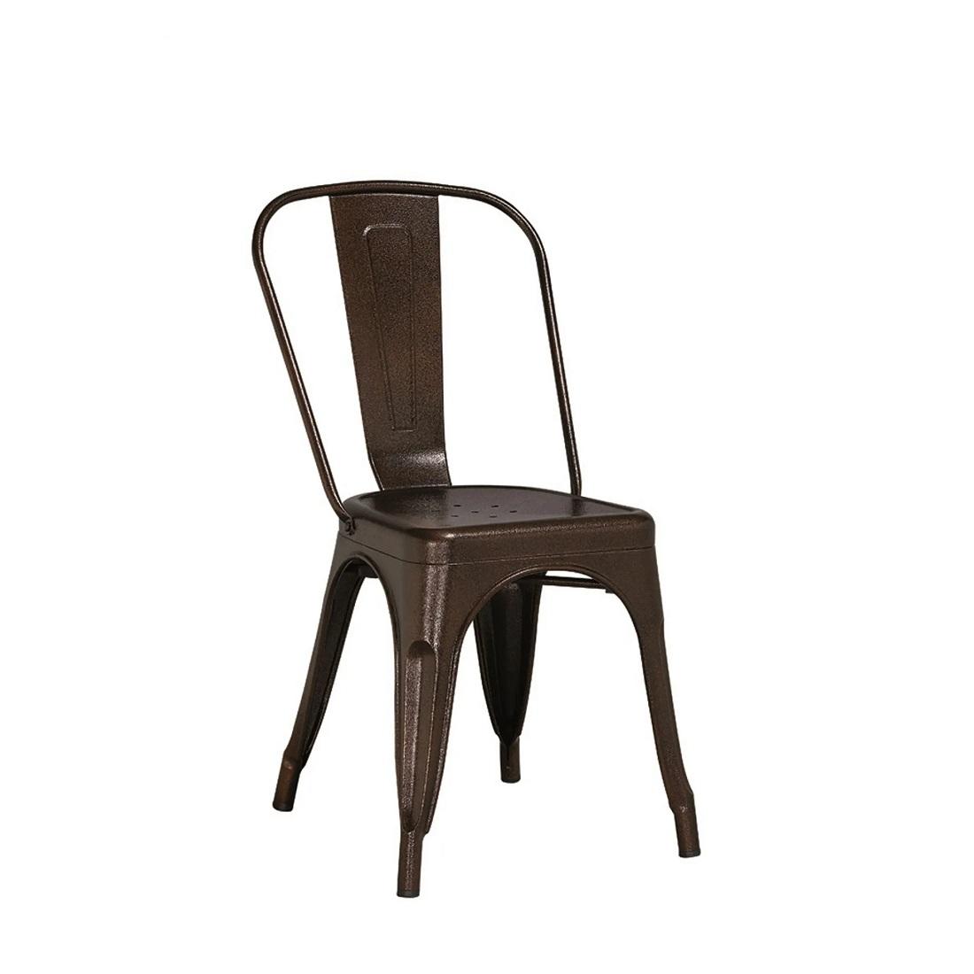 Cadeira Design Tolix Bronze Industrial Vintage Metal - Orb