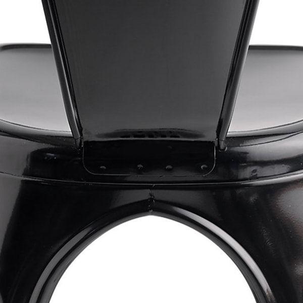 Cadeira Design Tolix Preta Industrial Vintage Metal - Orb