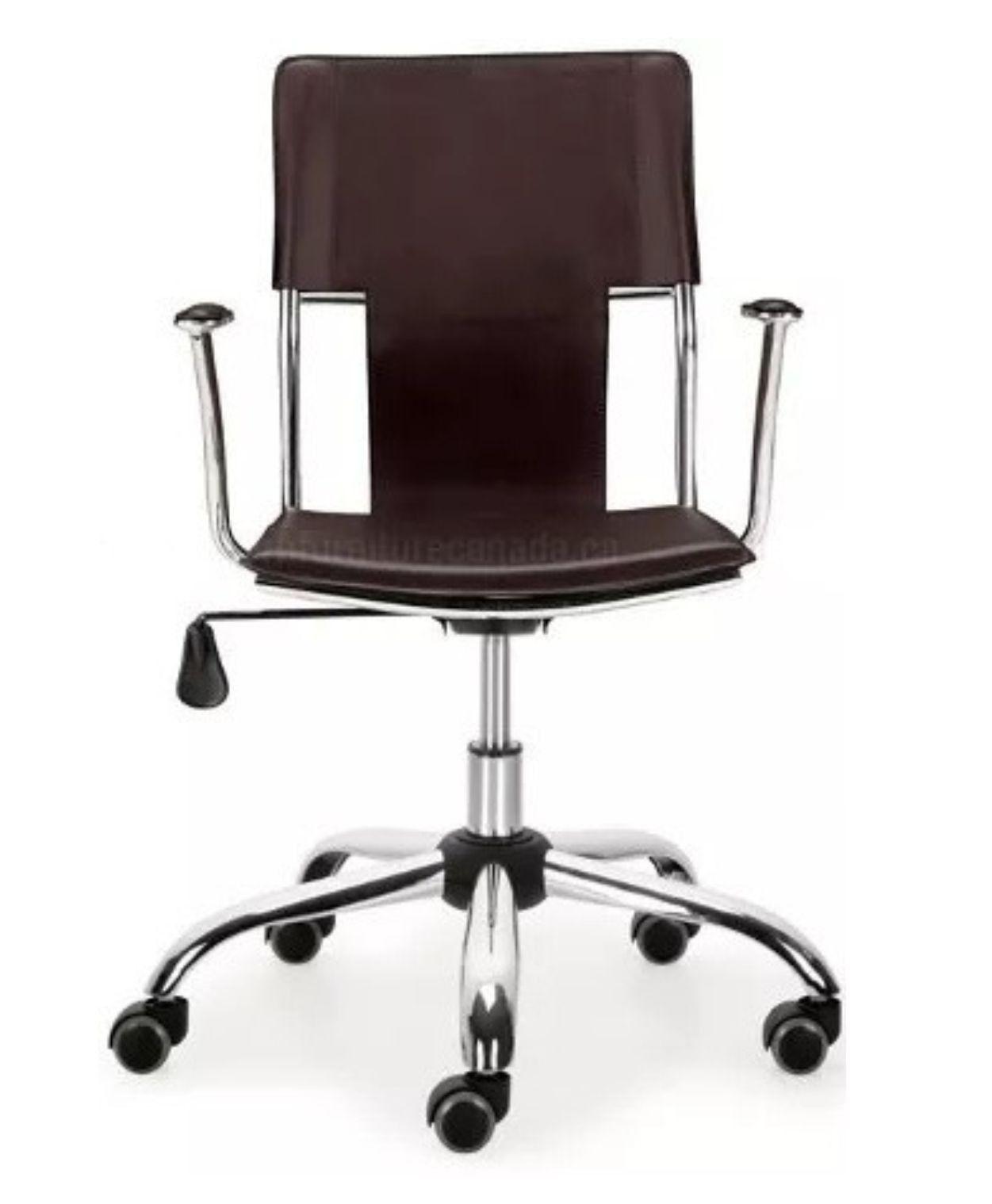 Cadeira Diretor Executiva Giratória Marrom em Couro Sintético Ideal - Orb