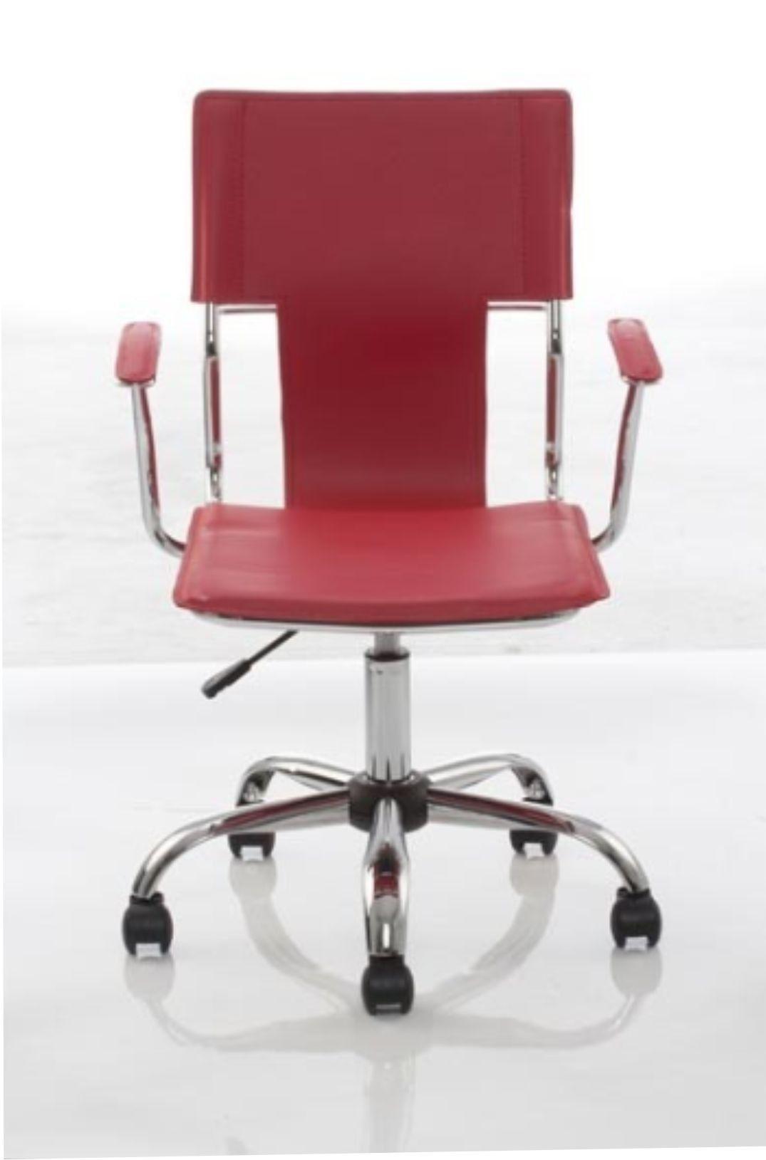 Cadeira Diretor Executiva Giratória Vermelha em Couro Sintético  Ideal - Orb