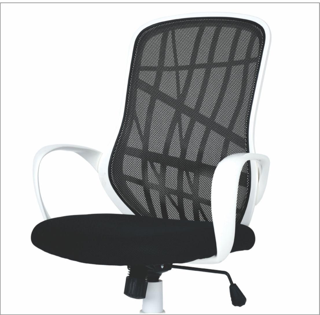 Cadeira Diretor Executivo Pelegrin PEL-3220 Branca e Preta