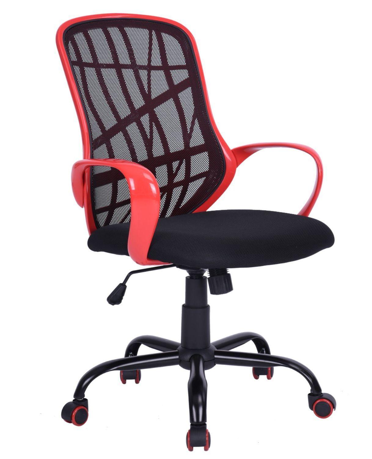 Cadeira Diretor Executivo Pelegrin PEL-3220 Vermelha e Preta