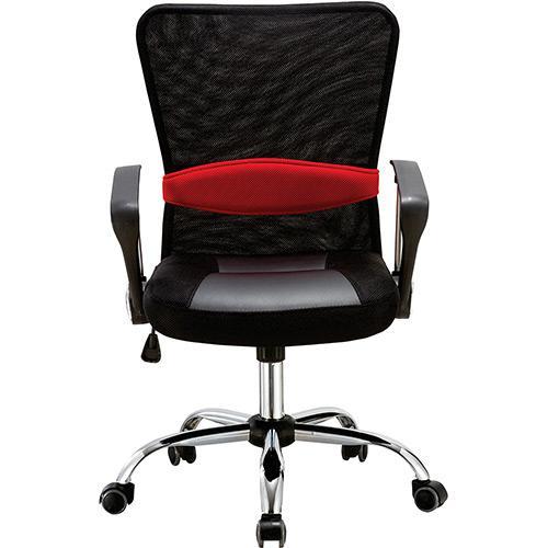 Cadeira Escritório Executiva Giratória Preto Regulagem De Altura a Gás Tela - Pel-502