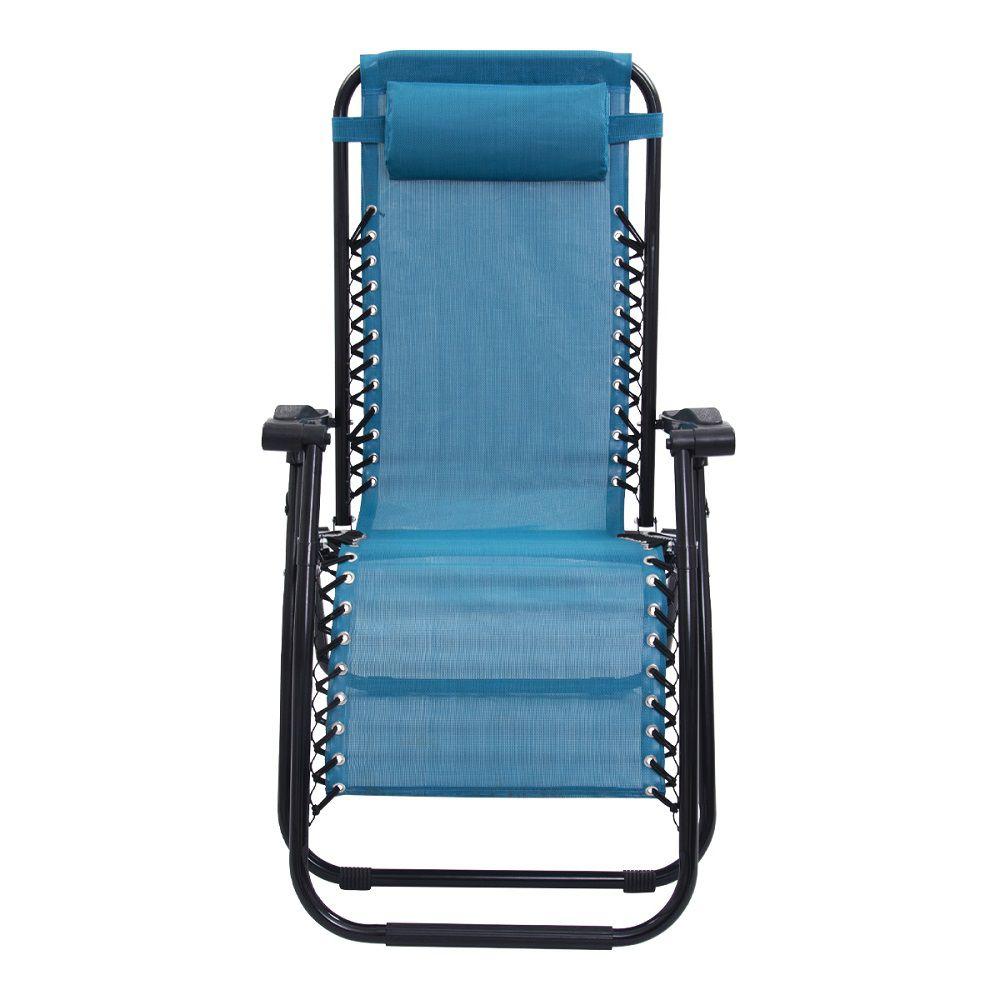 Cadeira Espreguiçadeira Pelegrin PEL-001Z Gravidade Zero em Tela Mesh Azul