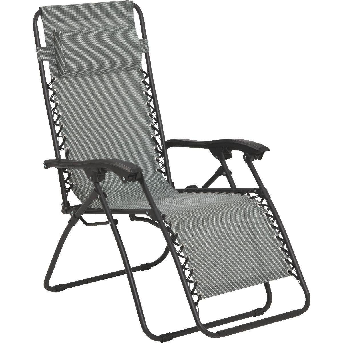 Cadeira Espreguiçadeira Pelegrin PEL-001Z Gravidade Zero em Tela Mesh Cinza