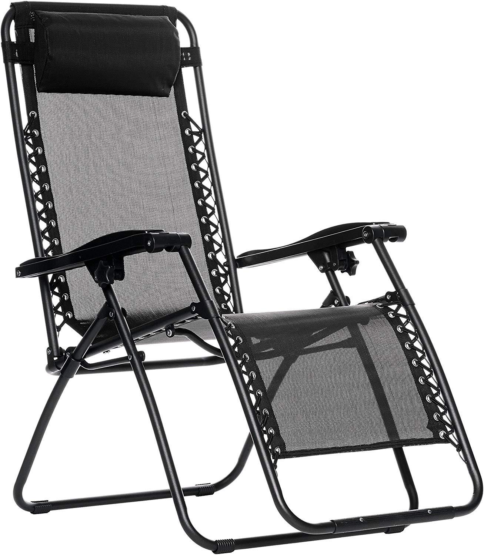Cadeira Espreguiçadeira Pelegrin PEL-001Z Gravidade Zero em Tela Mesh Preta