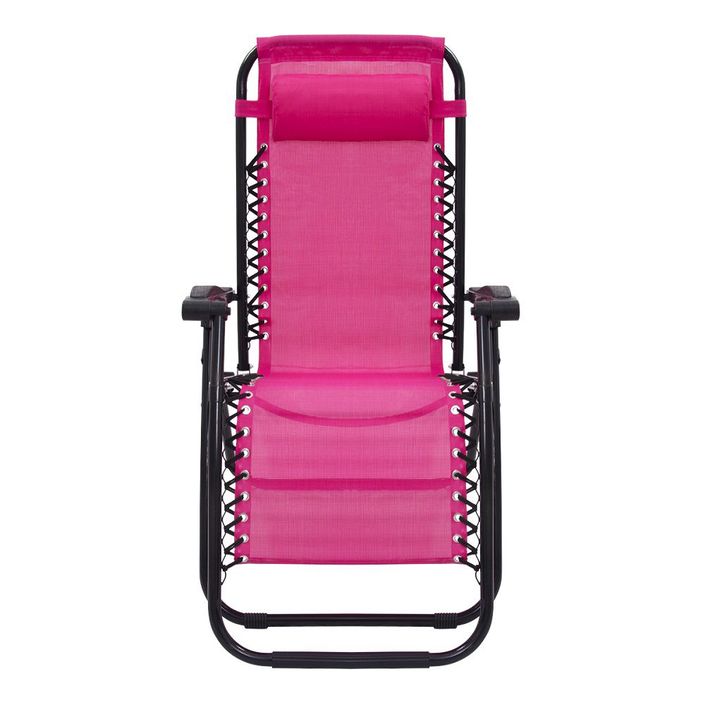 Cadeira Espreguiçadeira Pelegrin PEL-001Z Gravidade Zero em Tela Mesh Rosa