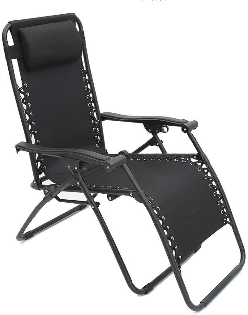 Cadeira Espreguiçadeira Pelegrin PEL-002Z Gravidade Zero em Tecido e Metal Preta
