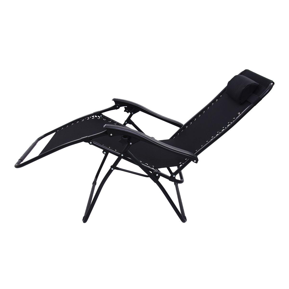 Cadeira Espreguiçadeira Pelegrin PEL-004Z Gravidade Zero em Tecido e Metal Preta