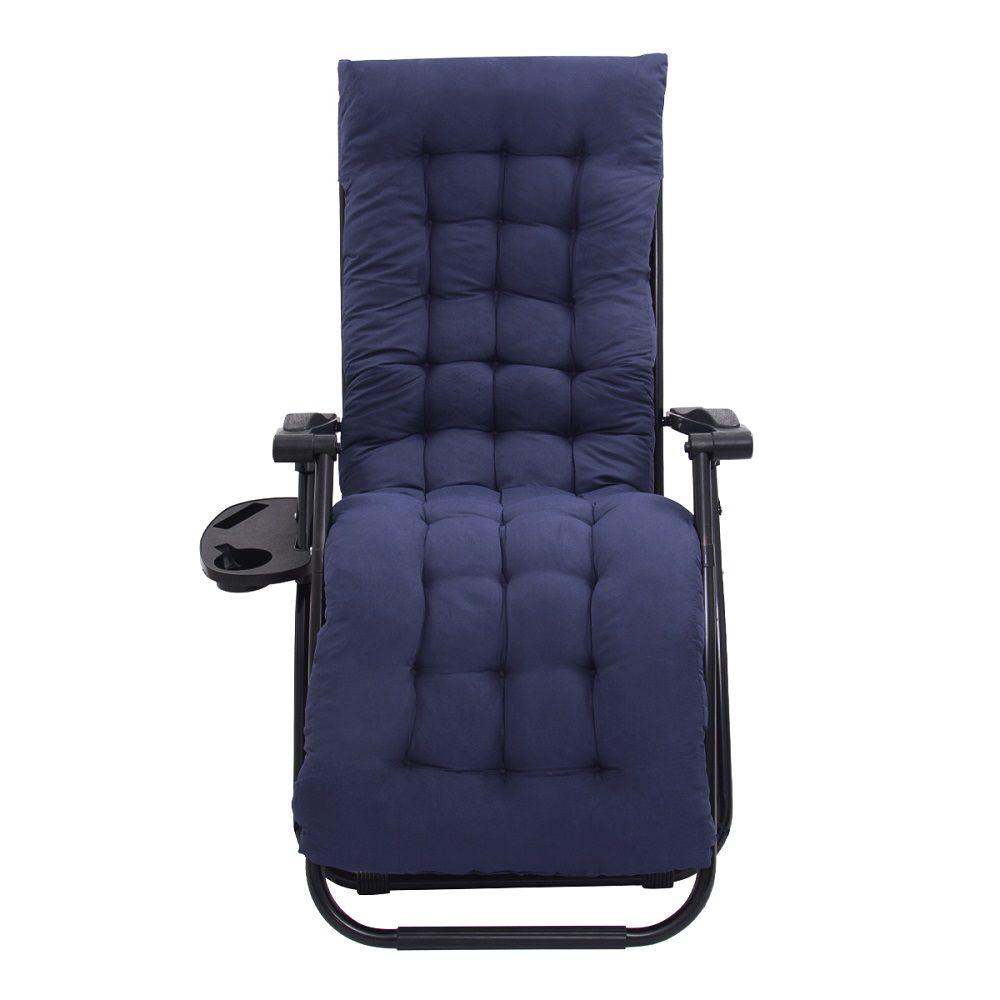 Cadeira Espreguiçadeira Pelegrin PEL-005Z Gravidade Zero Estofada Azul Marinho