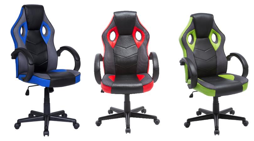 Cadeira Gamer em Couro PU Pelegrin PEL-3016