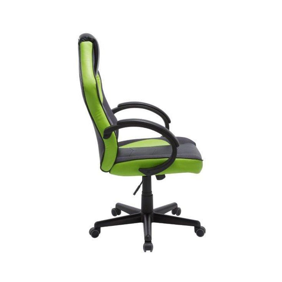 Cadeira Gamer em Couro PU Pelegrin PEL-3016 Preta e Verde
