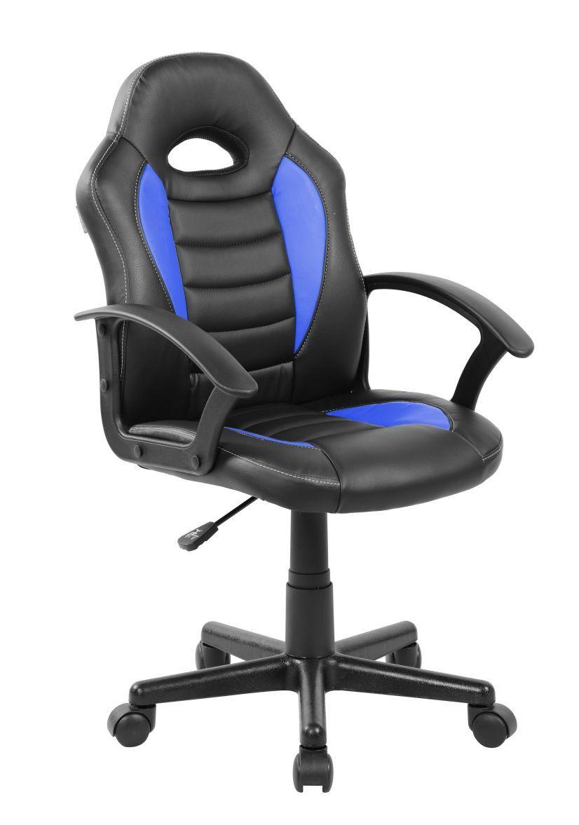 Cadeira Gamer Giratória Azul e Preta Kids - at.home