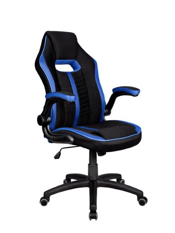 Cadeira Gamer Giratória Preta e Azul Epic- at.home