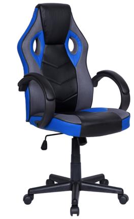 Cadeira Gamer Giratória Preta e Azul League - at.home