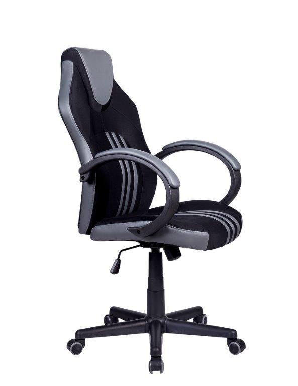 Cadeira Gamer Giratória Preta e Cinza Stripes - at.home